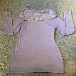 Tops - Lilac sequin print top